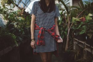 woman-in-striped-dress