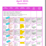 Image of April 2021 Scripture Calendar