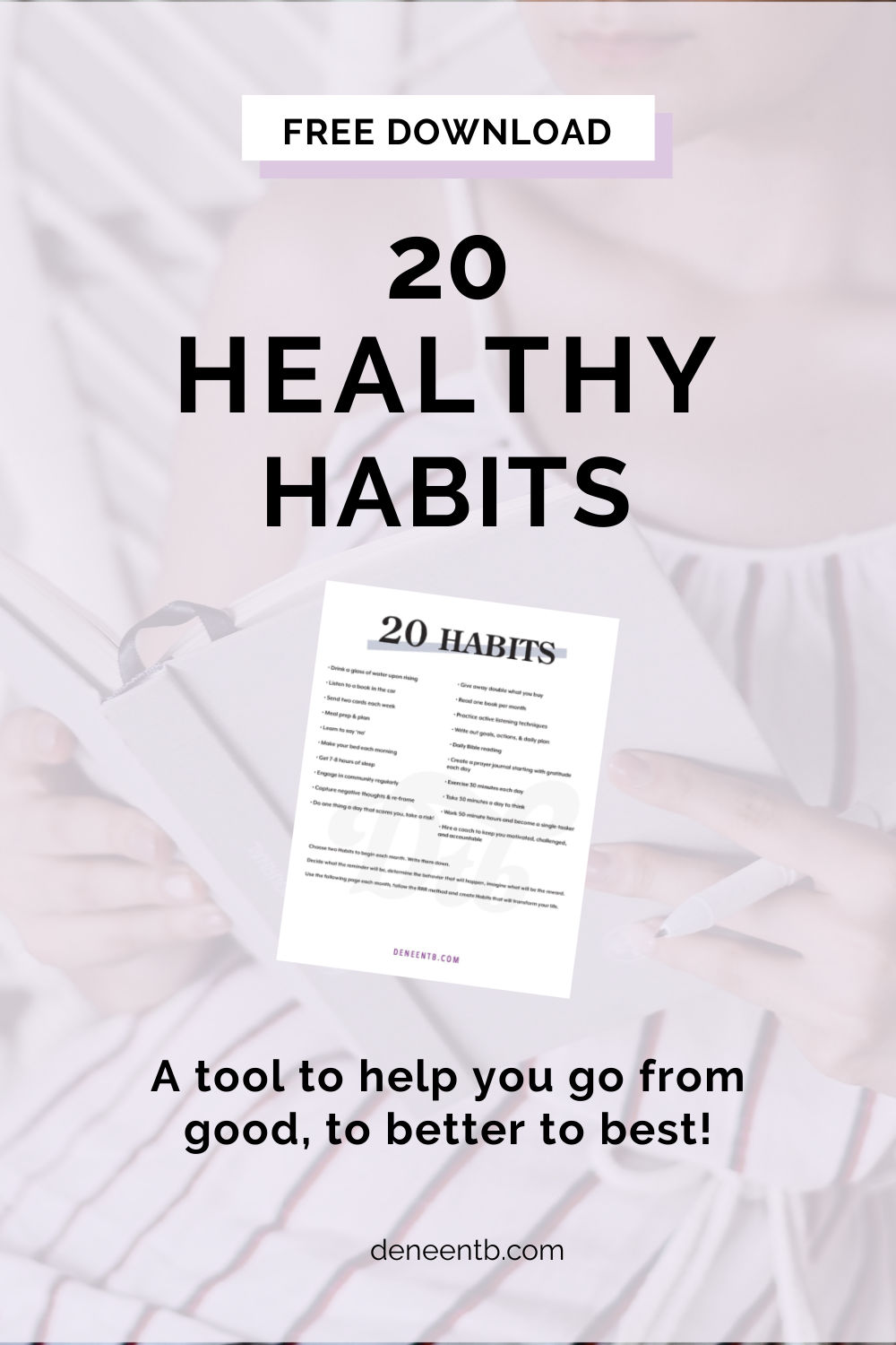 Pinterest post cover for How to have more discipline